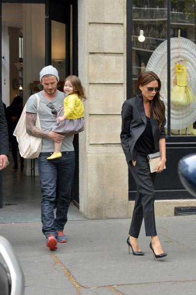 Дэвид и Виктория с дочкой Харпер