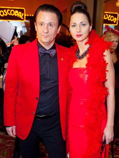 Олег Меньшиков с супругой Анастасией