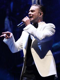 Тимберлейк на концерте 17 декабря в Атланте