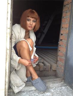 Мария Кожевникова на съемках