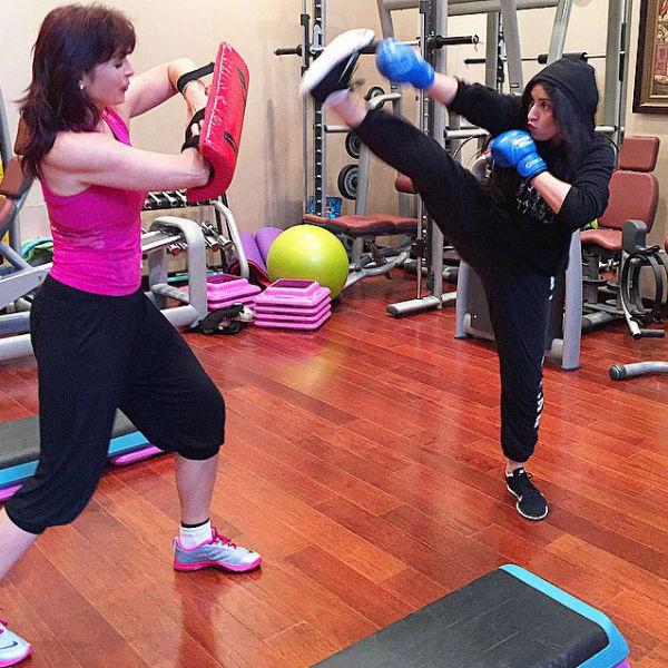Жасмин предпочитает разнообразные тренировки