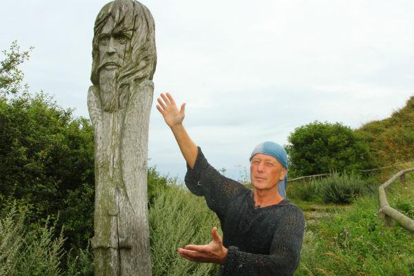 Михаил Задорнов во время путешествия на остров Рюген