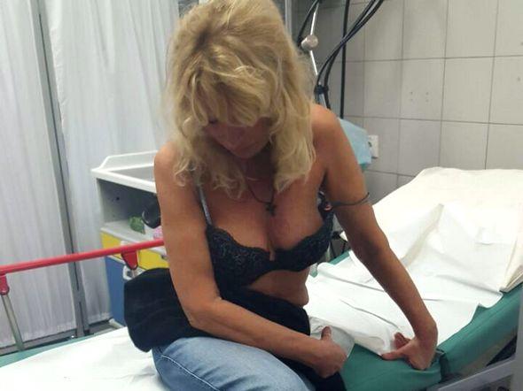Елена Зайцева в больнице после ДТП