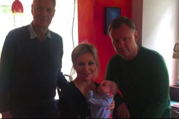 Мария Максакова с отцом, мужем и сыном