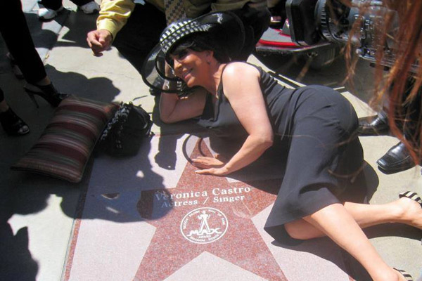 Вероника Кастро и ее именная звезда
