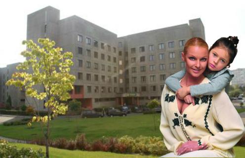 Балерина Анастасия Волочкова с дочерью Ариадной. Центр планирования семьи и репродукции в Москве