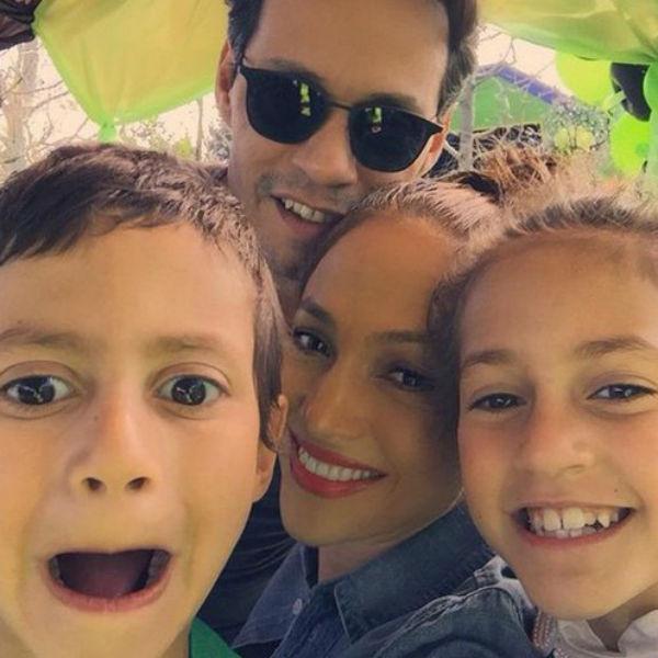 Дженнифер Лопес и Марк Энтони с детьми