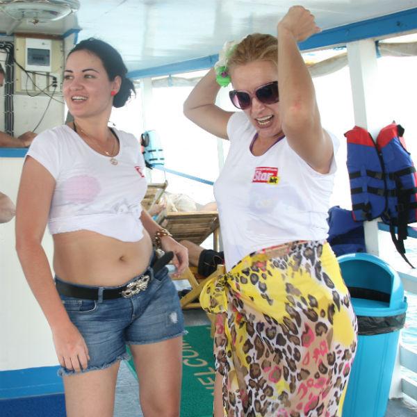 На морской прогулке не обошлось без дискотеки