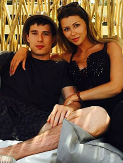 Анна Стрюкова и ее возлюбленный Мансур