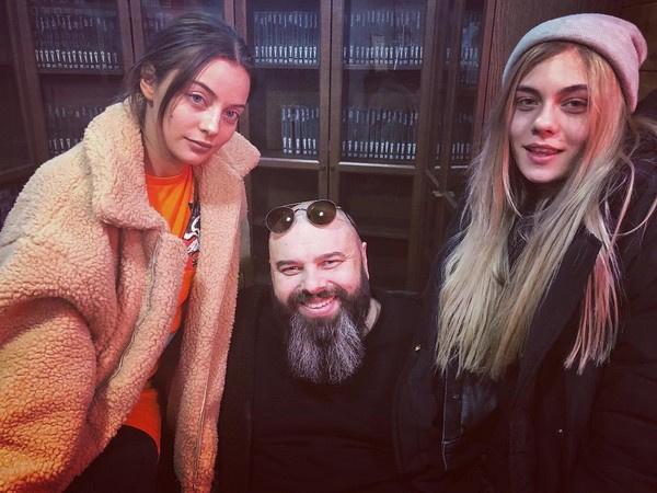 Максим Фадеев с солистками группы SEREBRO Катей Кищук и Татьяной Моргуновой
