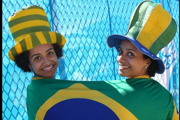 Болельщицы бразильской сборной на ЧМ по футболу 2014