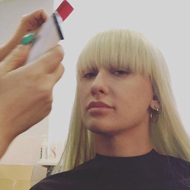Ксана Сергиенко на съемках «Точь-в-точь»
