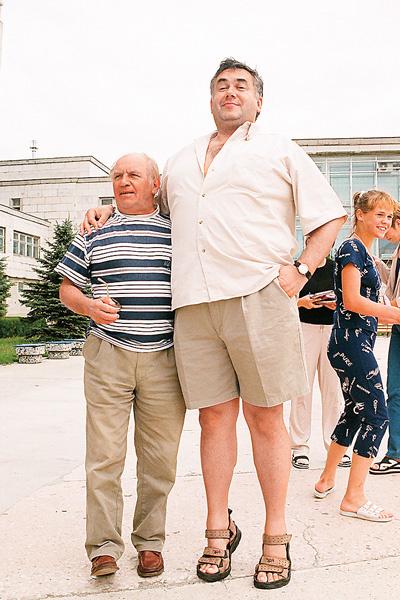Актер приятельствовал с Львом Дуровым. Фото сделано на фестивале «Киношок» в Анапе в 2000 году