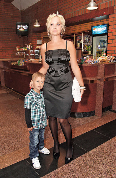Дочь Евдокимова Анна с сыном Михаилом
