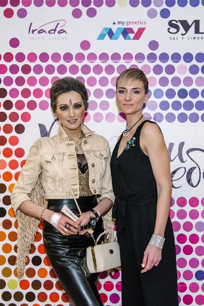 Певица, продюсер и композитор Лама Сафонова (слева) с Ксенией Бик