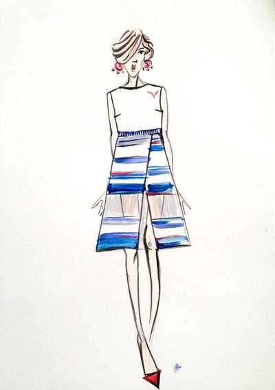 Эскизы будущих платьев, блузок, юбок Оксана начала рисовать, когда ждала рождения дочки