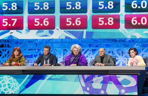 Аделина Сотникова (крайняя справа) стала членом жюри программы «Ледниковый период. Дети»