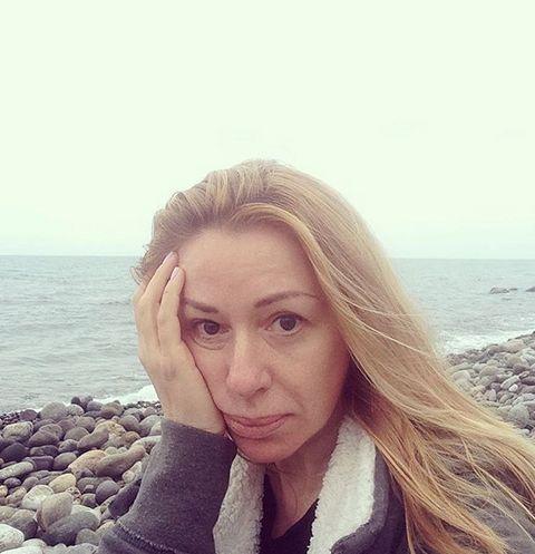 Алена Апина на отдыхе в Испании