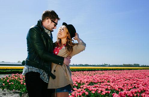 Анита Цой на съемках клипа в Голландии