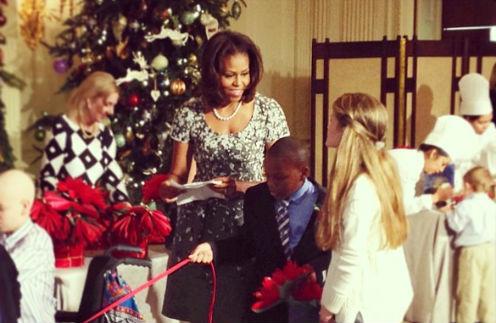 Мишель Обама с детьми