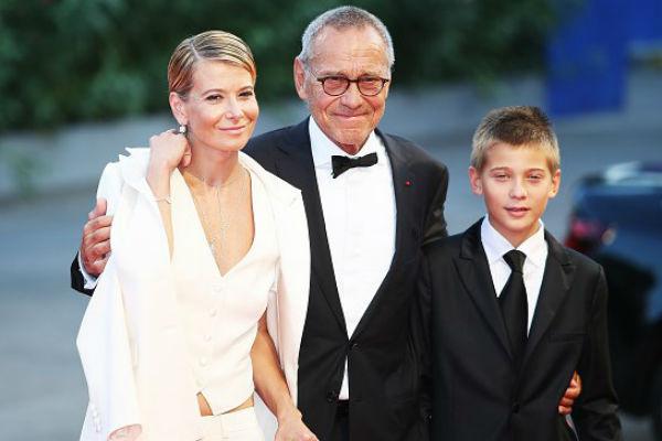 Высоцкая с мужем Андреем Кончаловским и сыном Петром