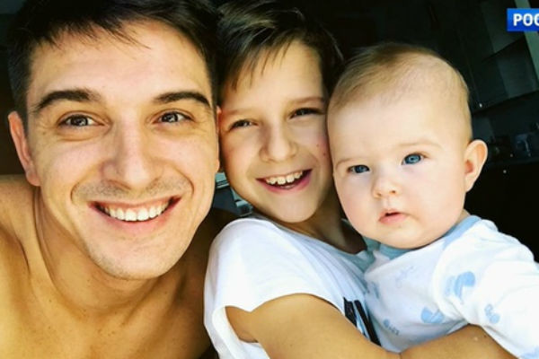 Актер старается часто видеться с сыном от первого брака
