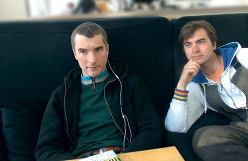 Иван Шаповалов и его сын Владимир на встрече с обозревателем «СтарХита». 29 марта 2013 года