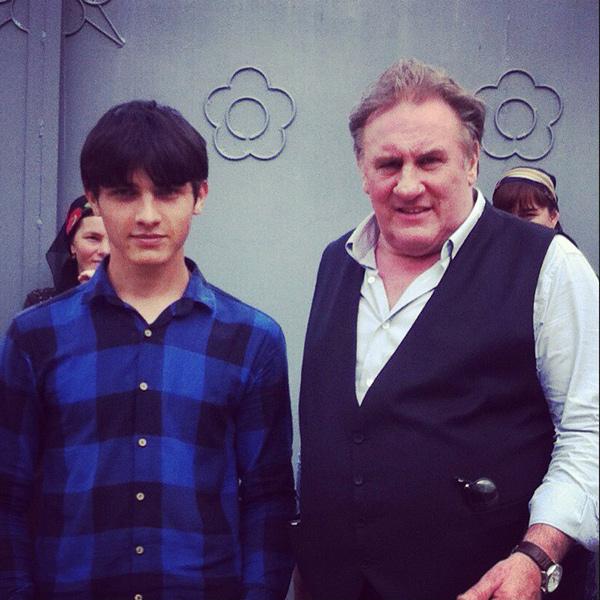 Жерар Депардье с Шамханом Маскаевым, сыном Хадиджат