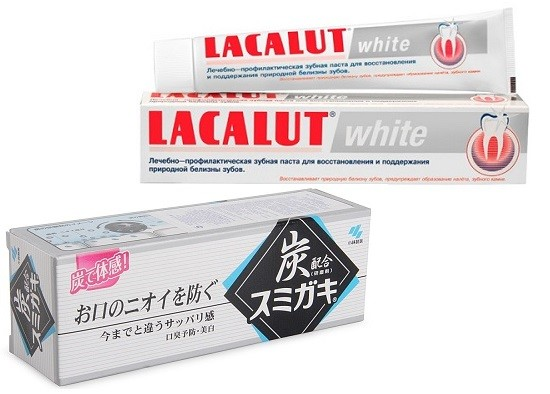 Отбеливающая паста Lacalut White, Зубная паста Kobayashi