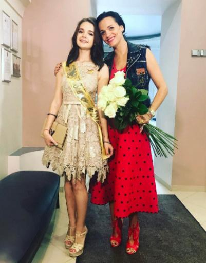 Певица Слава с дочерью Сашей