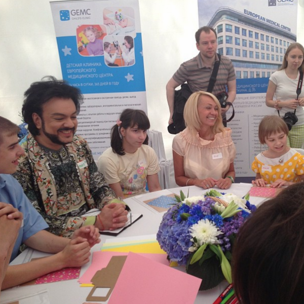 Филипп Киркоров и Яна Рудковская общаются с детьми