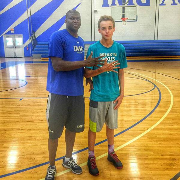 Юноша не представляет жизни без баскетбола