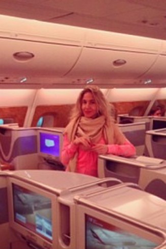 В отпуск Юлия первый раз летела на новом А308