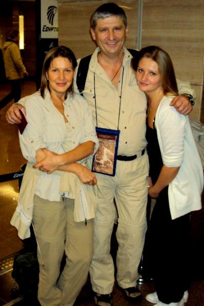 Елена Проклова с мужем