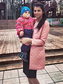 Алиана Гобозова с Робиком