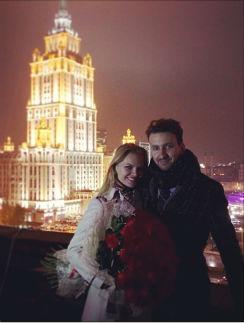 Елена Кулецкая с будущим мужем