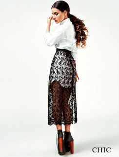 Белая сорочка и кружевная юбка CHIC by Aiza