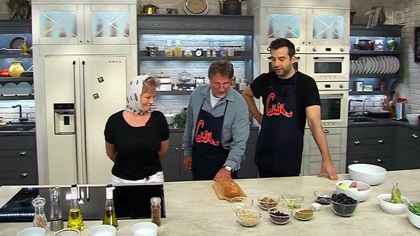 Леонид и Оксана Ярмольник готовят вместе с Иваном Ургантом