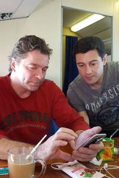 Сергей Маховиков с Антоном Макарским