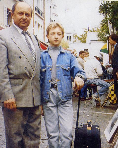 Алексей Мишин и 12-летний Евгений Плющенко