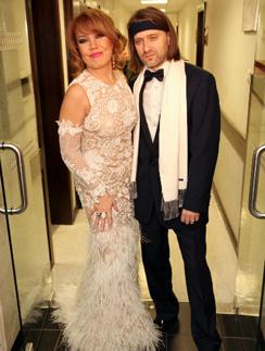 Азиза с супругом Александром