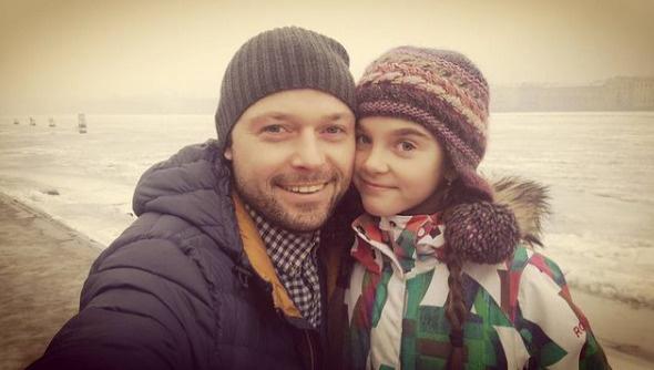 Илья Носков с дочкой