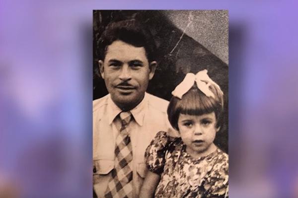 Любовь Успенская с отцом