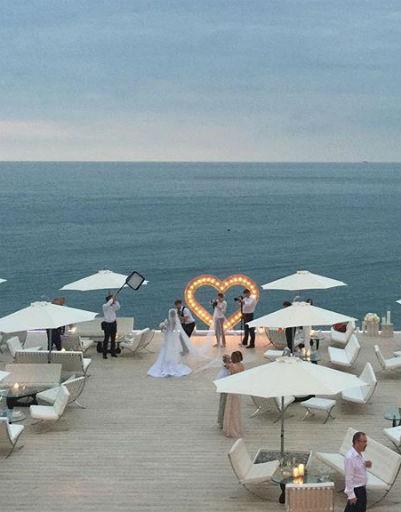 Татьяна Навка вышла замуж на берегу Черного моря