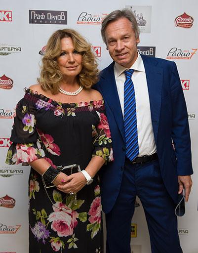 Алексей Пушков с супругой Ниной Пушковой