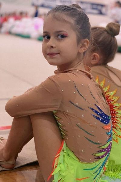 Дочь Виктории Бони стала гимнасткой