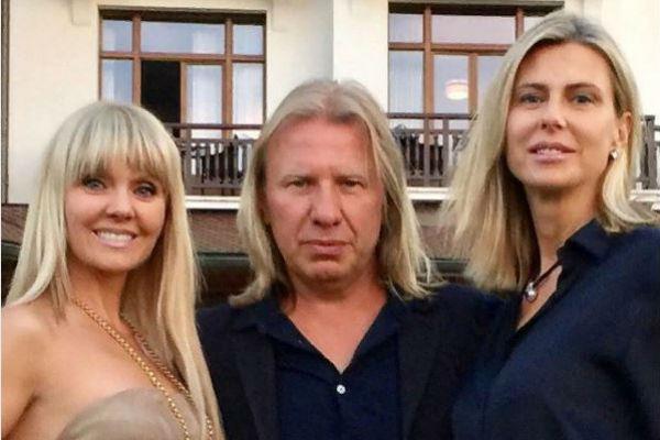Виктор Дробыш, его жена Татьяна и певица Валерия