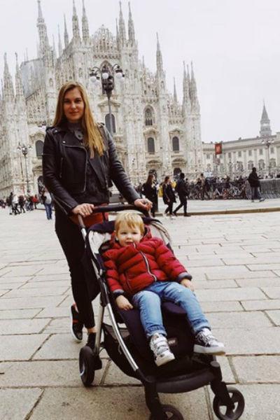 Елизавета с сыном Марселем