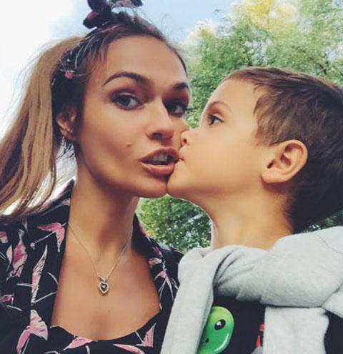 Алена Водонаева и ее сын Богдан