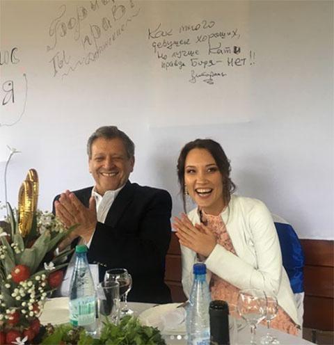 Борис Грачевский и его молодая жена Екатерина Белоцерковская